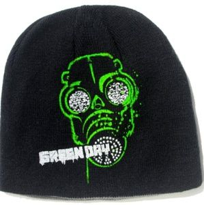 Reversible Green Day gas mask beanie hatNWT for sale